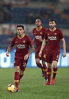 Football, Serie A: AS Roma - Genoa, Olympic stadium, Rome, December 16, 2018. <br /> Roma's Justin Kluivert (l) in action during the Italian Serie A football match between Roma and Genoa at Rome's Olympic stadium, on December 16, 2018.<br /> UPDATE IMAGES PRESS/Isabella Bonotto