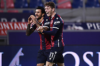 Roberto Soriano of Bologna FC celebrates after scoring a goal during the Serie A football match between Bologna FC and Parma Calcio 1913 at stadio Renato Dall Ara in Bologna (Italy), September 28th, 2020. Photo Image Sport / Insidefoto