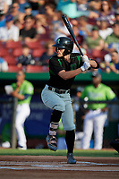 Dayton Dragons Michael Siani (6) at bat during a Midwest League game against the Kane County Cougars on July 20, 2019 at Northwestern Medicine Field in Geneva, Illinois.  Dayton defeated Kane County 1-0.  (Mike Janes/Four Seam Images)