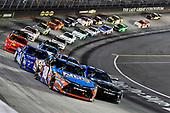 NASCAR XFINITY Series<br /> Food City 300<br /> Bristol Motor Speedway, Bristol, TN USA<br /> Friday 18 August 2017<br /> Kyle Busch, NOS Rowdy Toyota Camry and Daniel Suarez, Juniper Toyota Camry<br /> World Copyright: Nigel Kinrade<br /> LAT Images
