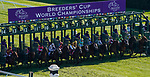 November 6, 2020: Horses race during the Juvenile Turf Presented By Coolmore America on Breeders' Cup Championship Friday at Keeneland on November 6, 2020: in Lexington, Kentucky. John Voorhees/Eclipse Sportswire/Breeders Cup/CSM