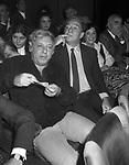 PAOLO VILLAGGIO CON UGO TOGNAZZI<br /> TEATRO SISTINA ROMA 1981