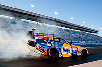 Oct 31, 2020; Las Vegas, Nevada, USA; NHRA funny car driver Ron Capps during qualifying for the NHRA Finals at The Strip at Las Vegas Motor Speedway. Mandatory Credit: Mark J. Rebilas-USA TODAY Sports