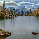 Storm Clouds, Echo Lake, Sawtooth Peak, Trinity Alps Wilderness, Shasta-Trinity National Forest, California
