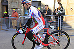 Aleksei Tcatevich (RUS) Team Katusha before the start of the 2015 Strade Bianche Eroica Pro cycle race 200km over the white gravel roads from San Gimignano to Siena, Tuscany, Italy. 7th March 2015<br /> Photo: Eoin Clarke www.newsfile.ie