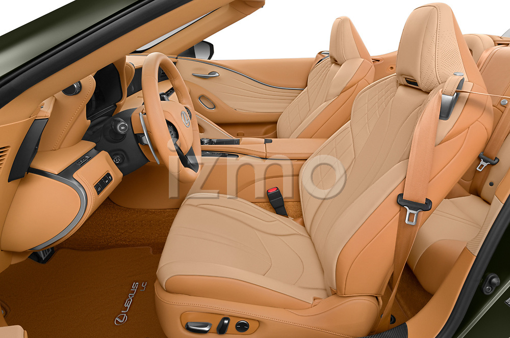 Front seat view of 2021 Lexus LC 500-Base 2 Door Convertible Front Seat  car photos
