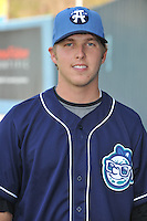 Corey Dickerson #23 of the Asheville Tourists poses during media day at McCormick Field on April 4, 2011 in Asheville, North Carolina.  Photo by Tony Farlow / Four Seam Images..