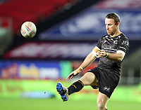 20th November 2020; Totally Wicked Stadium, Saint Helens, Merseyside, England; BetFred Super League Playoff Rugby, Saint Helens Saints v Catalan Dragons; James Maloney of Catalan Dragons practices a kick prior to the match