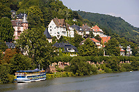 Europe/Allemagne/Bade-Würrtemberg/Heidelberg: la rive droite du Neckar
