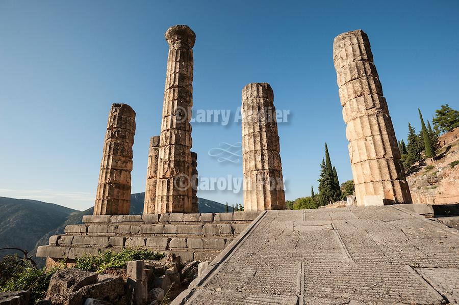 Columns of the Temple of Apollo, Delphoi, Greece