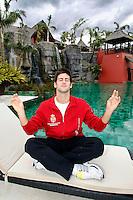 Tenis, Davis Cup, first leg.Spain Vs. Serbia.Novak Djokovic, posing at Barcelo premium, Asia garden hotel.Benidorm, 04.03.2009..foto: Srdjan Stevanovic/Starsportphoto.com ©