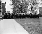GPHR 45/1622:  Navy ROTC Military Presidential Review, 1952/0503.  Image from the University of Notre Dame Archives.
