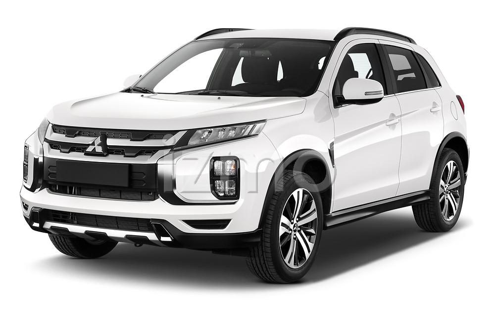 2020 Mitsubishi ASX Diamond Edition 5 Door SUV angular front stock photos of front three quarter view