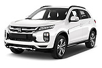 2020 Mitsubishi ASX Diamond Edition 5 Door SUV angular front stock photos of front three quarter view