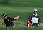 3 October 2008: Australia's Steve Allan hits from a fairway bunker during the second round at the Turning Stone Golf Championship in Verona, New York.