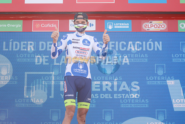Rein Taaramäe (EST) Intermarché-Wanty-Gobert Matériaux also retains the mountains Polka Dot Jersey at the end of Stage 6 of La Vuelta d'Espana 2021, running 158.3km from Requena to Alto de la Montaña Cullera, Spain. 19th August 2021.    <br /> Picture: Luis Angel Gomez/Photogomezsport | Cyclefile<br /> <br /> All photos usage must carry mandatory copyright credit (© Cyclefile | Luis Angel Gomez/Photogomezsport)