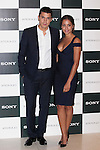 Spanish actor Alex Gonzalez and actress Hiba Abouk pose during Sony promotion event photocall in Madrid, Spain. October 09, 2014. (ALTERPHOTOS/Victor Blanco)