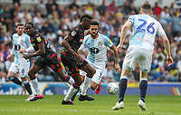 Bolton Wanderers' Sammy Ameobi competing with Blackburn Rovers' Derrick Williams and Darragh Lenihan <br /> <br /> Photographer Andrew Kearns/CameraSport<br /> <br /> The EFL Sky Bet Championship - Blackburn Rovers v Bolton Wanderers - Monday 22nd April 2019 - Ewood Park - Blackburn<br /> <br /> World Copyright © 2019 CameraSport. All rights reserved. 43 Linden Ave. Countesthorpe. Leicester. England. LE8 5PG - Tel: +44 (0) 116 277 4147 - admin@camerasport.com - www.camerasport.com