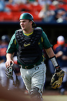 Shaun Chase #16 of the Oregon Ducks during a baseball game against the Cal State Fullerton Titans at Goodwin Field on March 3, 2013 in Fullerton, California. (Larry Goren/Four Seam Images)