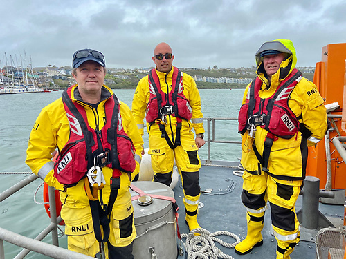 The Gannon family, Coxswain Mark, his son Mark John and brother Dara, all part of the Lifeboat crew today.