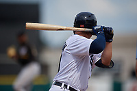 Detroit Tigers Spencer Torkelson (19) bats during a Florida Instructional League game against the Pittsburgh Pirates on October 16, 2020 at Joker Marchant Stadium in Lakeland, Florida.  (Mike Janes/Four Seam Images)