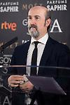 Javier Cámara during the reading of the nominates for Goya 2017 at Academia de Cine in Madrid, Spain. December 14, 2016. (ALTERPHOTOS/BorjaB.Hojas)
