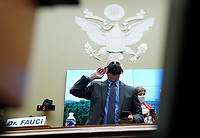 Director of the National Institute for Allergy and Infectious Diseases Dr. Anthony Fauci wears a face mask when he arrives to testify before the House Committee on Energy and Commerce on the Trump Administration's Response to the COVID-19 Pandemic, on Capitol Hill in Washington, DC on Tuesday, June 23, 2020.   <br /> Credit: Kevin Dietsch / Pool via CNP/AdMedia
