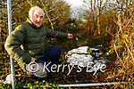 Cllr: Charlie Farrelly standing at the site of the illegal dumping by Mart Yard in Castleisland.