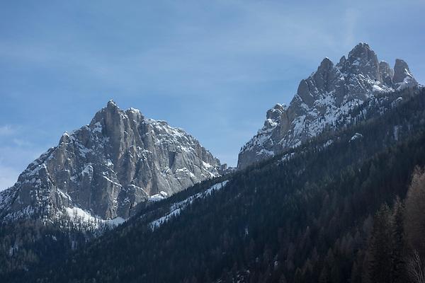 Town of Pozza and Ciampac Ski Area, Canazei, Italy,