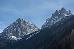 Town of Pozza and Ciampac Ski Area, Canazei, Italy,
