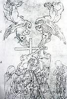 Visual Arts:  Villard De Honnecourt, Plate 8.  THE SKETCHBOOK OF VILLARD DE HONNECOURT.