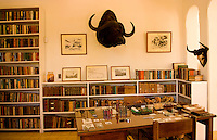 Interior of the historical home of writer Ernest Hemingway in Havana Cuba where he wrote many oif his writings and is now a museum showing how he lived in San Francisco de Paula
