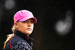 TAOYUAN, TAIWAN - OCTOBER 21: Anna Nordqvist of Sweden walks under the rain on the 2nd hole during day two of the LPGA Imperial Springs Taiwan Championship at Sunrise Golf Course on October 21, 2011 in Taoyuan, Taiwan. (Photo by Victor Fraile/Getty Images)