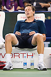SHANGHAI, CHINA - OCTOBER 12:  Tomas Berdych of Czech Republic reacts after winning over Tommy Robredo of Spain during day two of the 2010 Shanghai Rolex Masters at the Shanghai Qi Zhong Tennis Center on October 12, 2010 in Shanghai, China.  (Photo by Victor Fraile/The Power of Sport Images) *** Local Caption *** Tomas Berdych