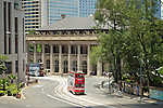 Tram passing the former Supreme Court, Central.  It now houses the Court of Final Appeal.