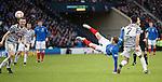 David Templeton tries an overhead kick
