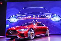 NEW YORK, EUA, 12.04.2017 - AUTOMÓVEL-NEW YORK - Mercedes GT Concept é visto durante o New York Internacional Auto Show no Javits Center na cidade de New York nesta quarta-feira, 12. O evento é aberto ao público do dia 14 à 23 de abril de 2017 . (Foto: Vanessa Carvalho/Brazil Photo Press)