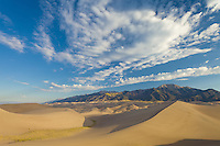 Great Sand Dunes National Park, Colorado.<br /> <br /> Canon EOS 5D Mk II, 24mm f/2.8 lens, polarizing filter