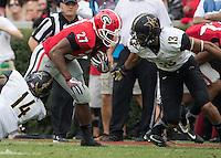 Athens, GA - October 15, 2016: The University of Georgia Bulldogs play the Vanderbilt University Commodores at Sanford Stadium.  Final score Vanderbilt 17, Georgia 16.