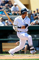Detroit Tigers designated hitter Victor Martinez #41 during a Spring Training game against the Tampa Bay Rays at Joker Marchant Stadium on March 29, 2013 in Lakeland, Florida.  (Mike Janes/Four Seam Images)