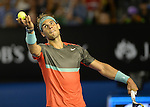 Rafael Nadal (ESP) defeats Thanasi Kokkinakis (AUS) 6-2, 6-4, 6-2 at the Australian Open in Melbourne, Australia on January 16, 2014