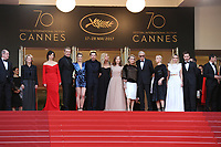 ELODIE BOUCHEZ SANDRINE KIBERLAIN ISABELLE HUPPERT CATHERINE DENEUVE EMMANUELLE BEART JULIETTE BINOCHE LAMBERT WILSON GREGOIRE LE PRINCE RINGET PIERRE DELADONCHAMPS ANDRE TECHNIE 'The Killing Of A Sacred Deer' Red Carpet Arrivals - The 70th Annual Cannes Film Festival at Palais des Festivals on May 22, 2017 in Cannes, France. # 70EME FESTIVAL DE CANNES - RED CARPET 'MISE A MORT DU CERF SACRE'