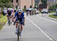 Yves Lampaert (BEL/Deceuninck - QuickStep) setting up the decisive move<br /> <br /> Heylen Vastgoed Heistse Pijl 2021 (BEL)<br /> One day race from Vosselaar to Heist-op-den-Berg (BEL/193km)<br /> <br /> ©kramon