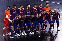 9th October 2020; Palau Blaugrana, Barcelona, Catalonia, Spain; UEFA Futsal Champions League Finals; FC Barcelona versus MFK KPRF; The Barcelona line up