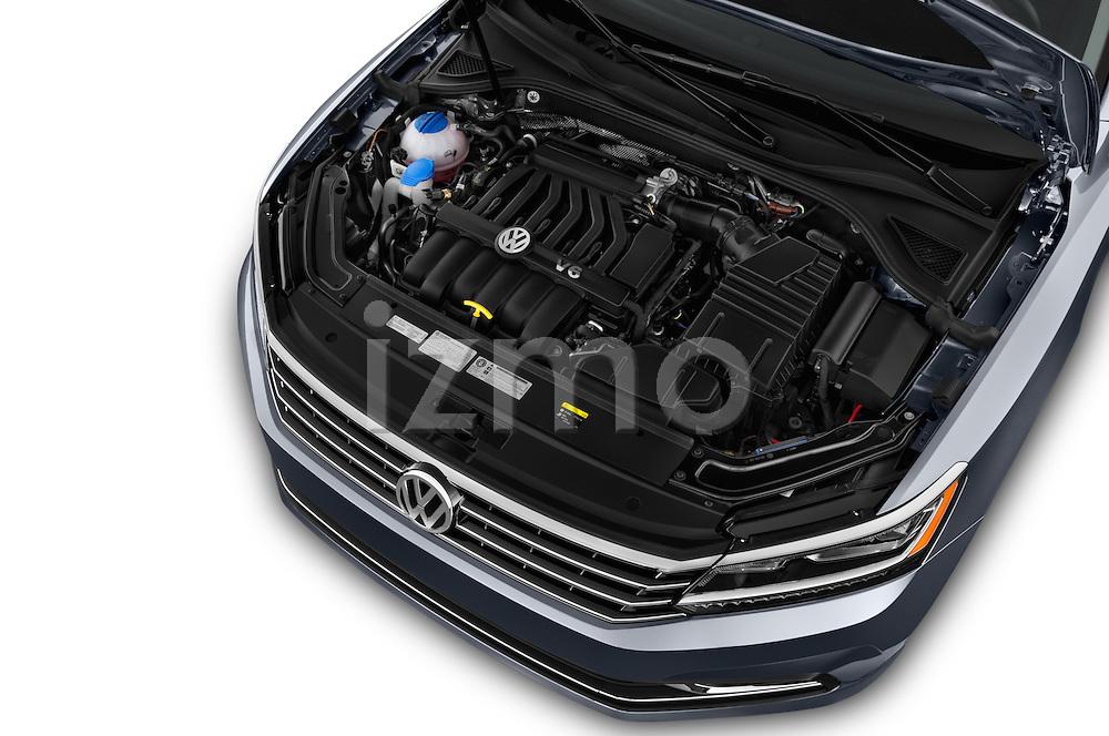 Car Stock 2016 Volkswagen Passat 3.6L-SEL-Premium-Auto 4 Door Sedan Engine  high angle detail view