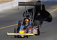 Jul. 26, 2009; Sonoma, CA, USA; NHRA top fuel dragster driver Mike Strasburg during eliminations in the Fram Autolite Nationals at Infineon Raceway. Mandatory Credit: Mark J. Rebilas-