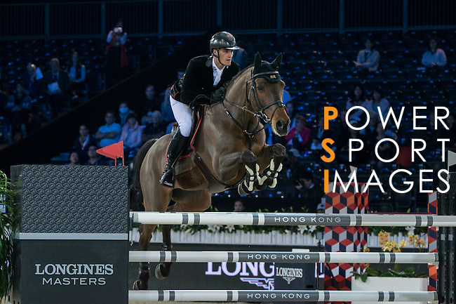 Olivier Philippaerts of Belgium riding H&M Challenge vd Begijnakker Z competes during the Hong Kong Tatler Trophy, part of the Longines Masters of Hong Kong on 12 February 2017 at the Asia World Expo in Hong Kong, China. Photo by Marcio Rodrigo Machado / Power Sport Images