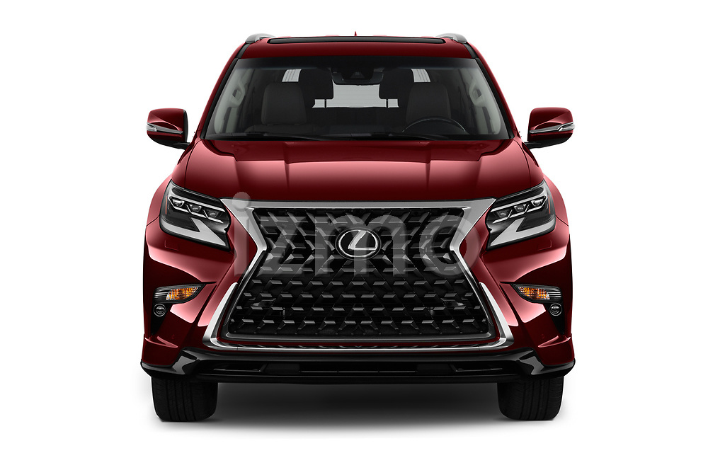 Car photography straight front view of a 2020 Lexus GX - 5 Door SUV Front View