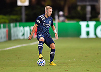 LAKE BUENA VISTA, FL - AUGUST 01: Anton Tinnerholm #3 of New York City FC controls the ball during a game between Portland Timbers and New York City FC at ESPN Wide World of Sports on August 01, 2020 in Lake Buena Vista, Florida.