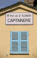 France/2B/Haute Corse/Nebbio/Saint-Florent: Détail Capitainerie du Port